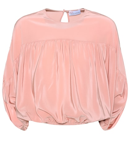 Silk batwing top