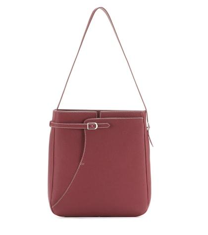 loro piana female lune haute odessa leather shoulder bag