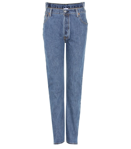 X Levi's® high-waisted reworked denim jeans