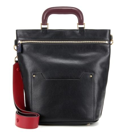 anya hindmarch female orsett small leather shoulder bag