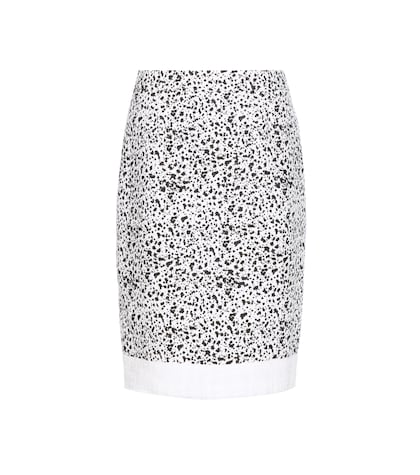 Speckled tweed skirt