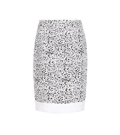 Speckled tweed skirt