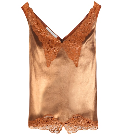 Lamé And Lace Camisole