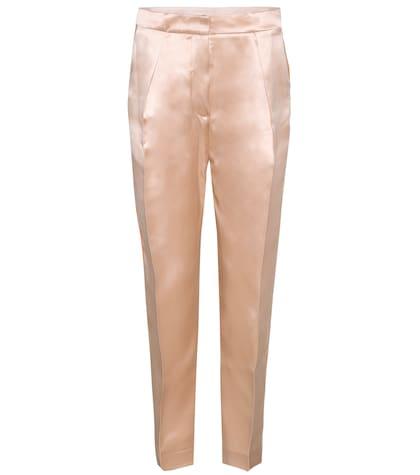 Pantalon en satin de soie Surikov