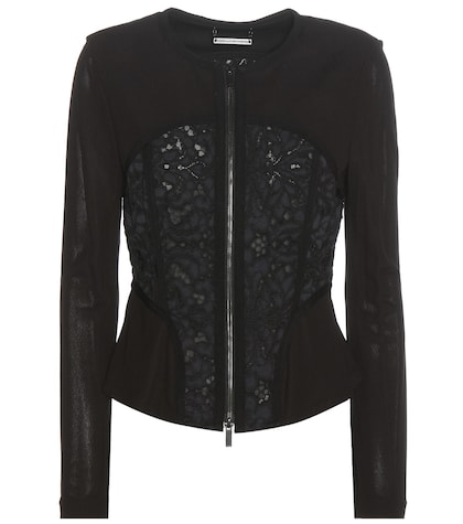 Tayah lace and crêpe jacket