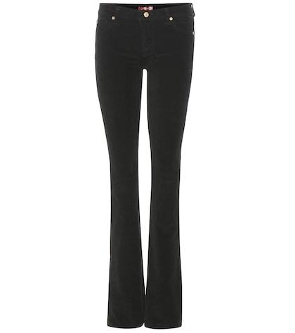 7 for all mankind female 188971 the skinny bootcut velvet trousers