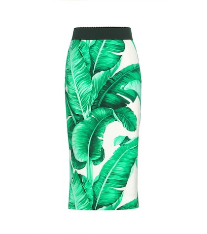 Printed Crêpe Skirt