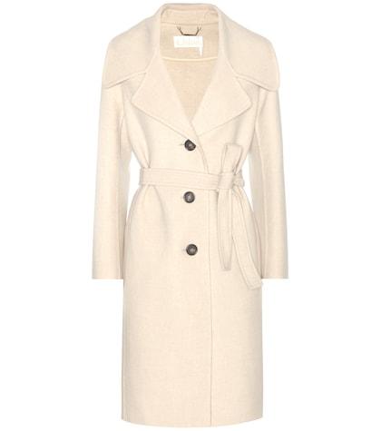 chloe female wool and cashmere coat
