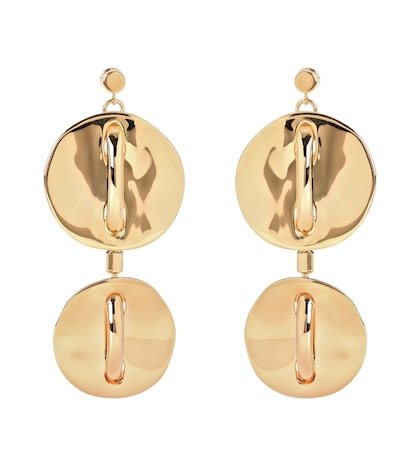 Tiered disc earrings