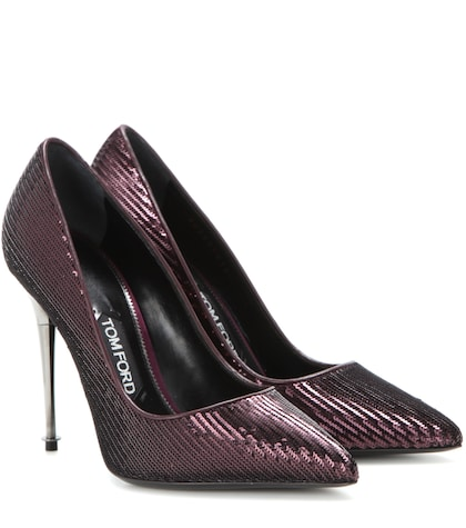 tom ford female sequinned pumps