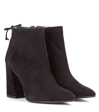 stuart weitzman female grandiose suede ankle boots