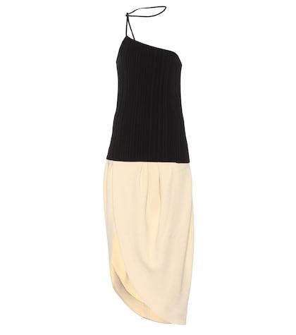 Robe asymétrique en coton mélangé