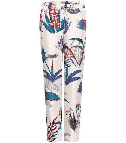 Adele Printed Silk Trousers