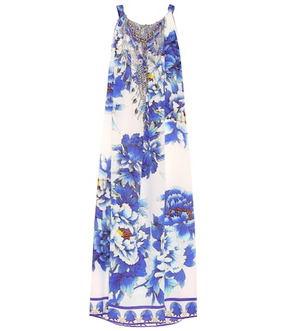 Floral-printed maxi dress