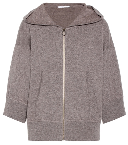 agnona female cashmere and wool hoodie