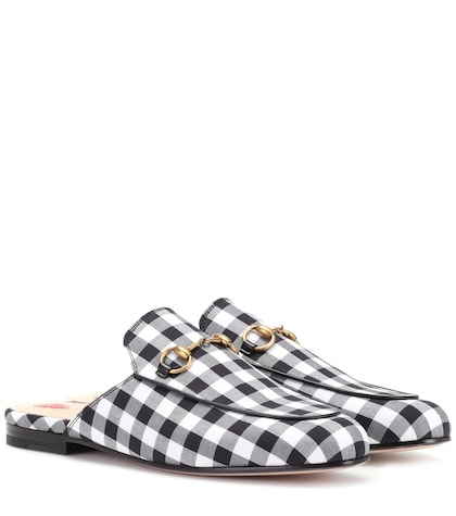 Princetown check slippers