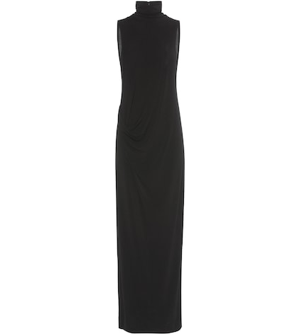 by malene birger female safina crepe jersey turtleneck dress