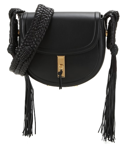 altuzarra female ghianda bullrope saddle leather shoulder bag