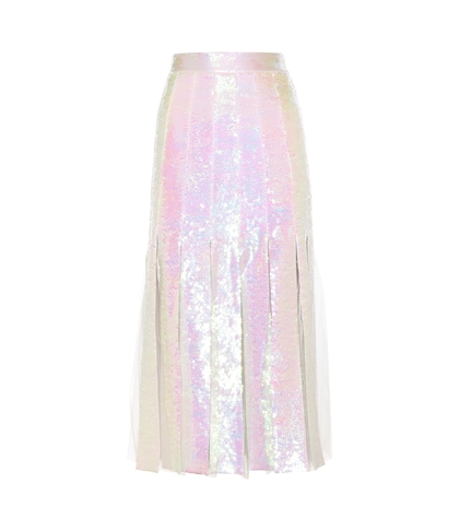 christopher kane female sequinembellished silk skirt