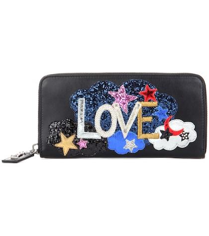 saint laurent female rive gauche ziparound large embellished leather wallet