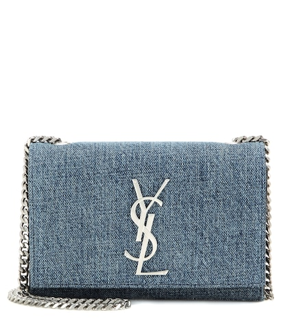 Classic Monogram Denim Shoulder Bag