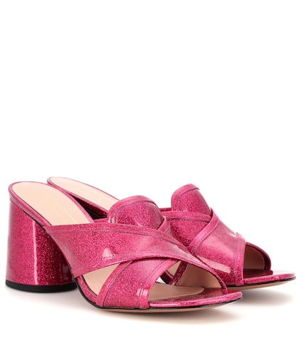 marc jacobs female aurora patent leather mules