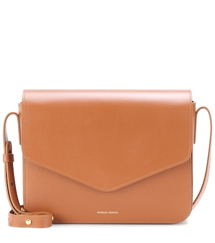 Envelope leather crossbody bag