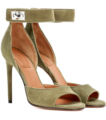 givenchy female shark suede sandals