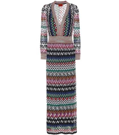 Striped Crochet-knit Dress