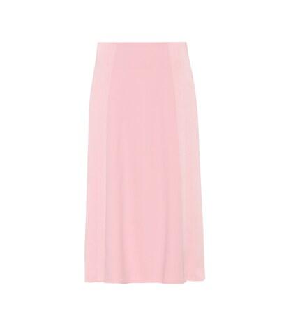 victoria beckham female pleated crepe skirt