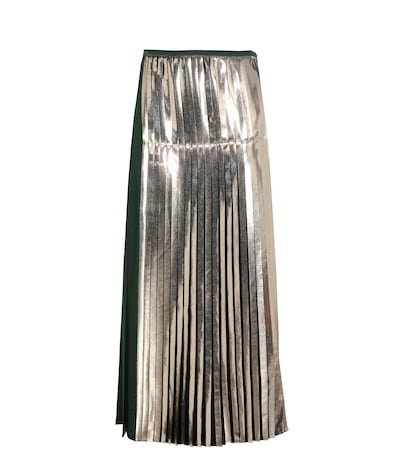 Carmen Metallic Pleated Satin Skirt