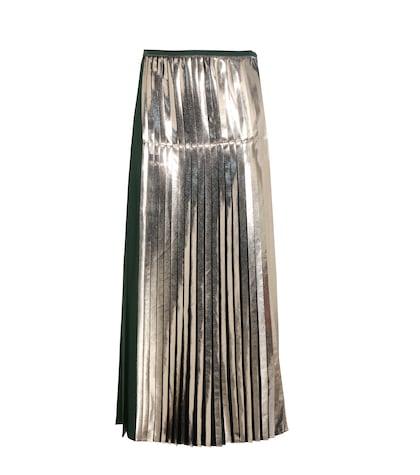 Carmen metallic pleated satin skirt