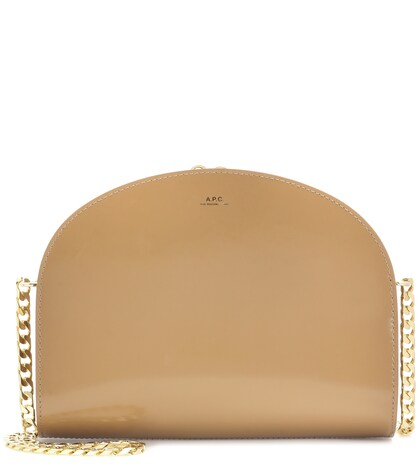apc female luna leather shoulder bag