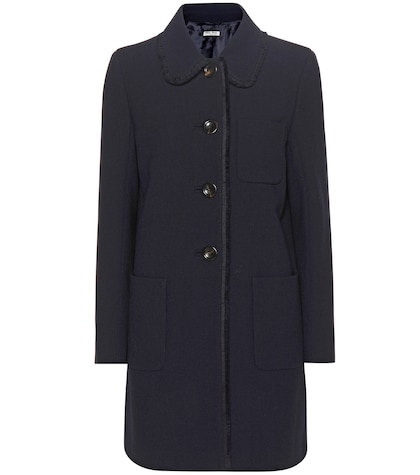 Wool-crêpe coat