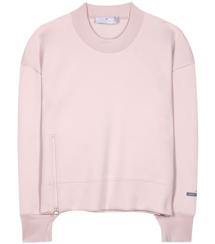 adidas by stella mccartney female essential cropped sweatshirt