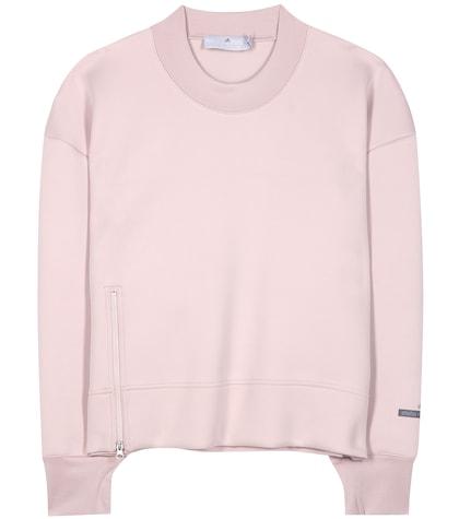 adidas by stella mccartney female essential cropped sweatshirt