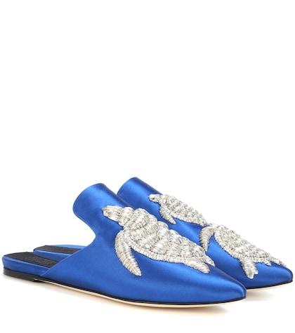 Tartaruga satin slippers