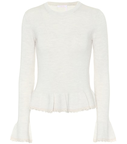 Peplum wool sweater