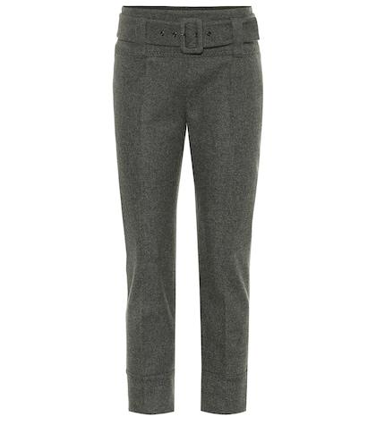 PRADA | Belted stretch wool pants | Goxip