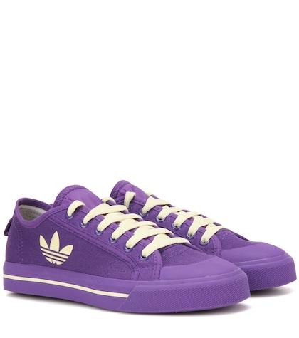 adidas by raf simons female 248826 matrix spirit low canvas sneakers
