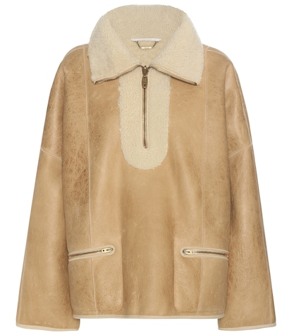 Shearling-lined bomber jacket