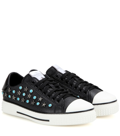 Starstudded Leather Sneakers