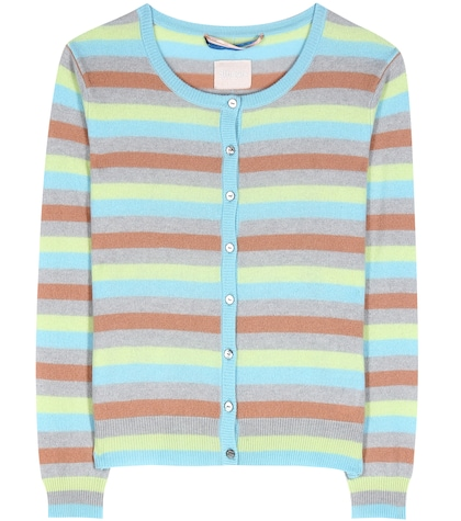 81hours female clyde striped cashmere cardigan