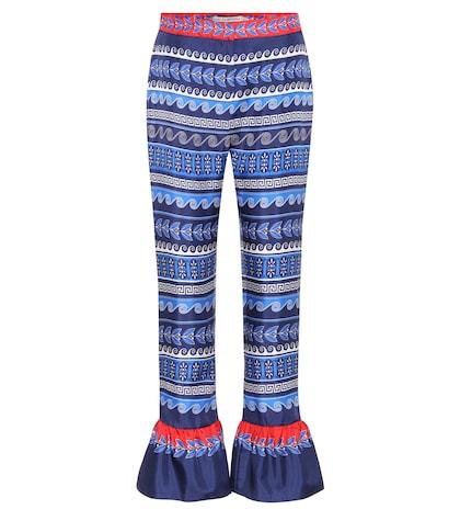 Peyote printed silk trousers