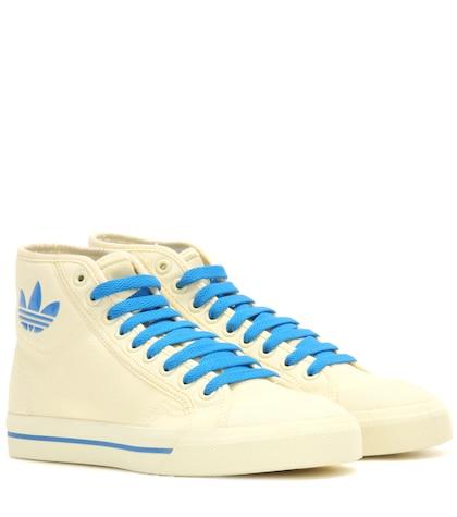 adidas by raf simons female matrix spirit hightop canvas sneakers