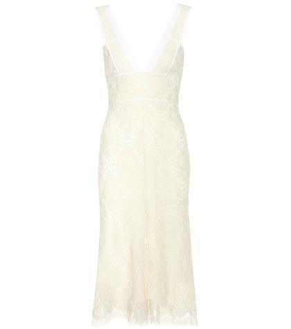 Wool-blend lace dress