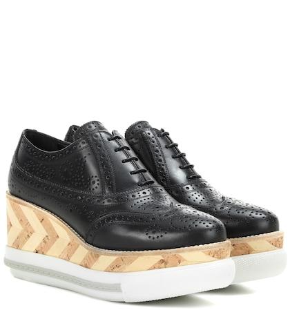Leather Platform Brogues