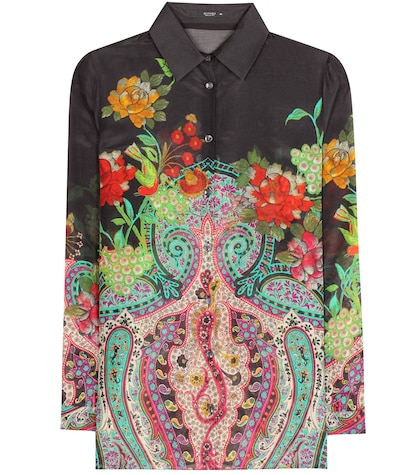 Silk and cotton printed shirt