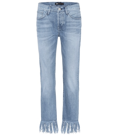 3x1 female wm3 crop fringe denim jeans