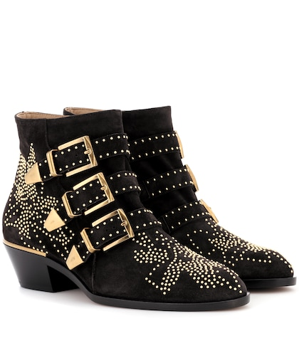 Susanna studded suede ankle boots